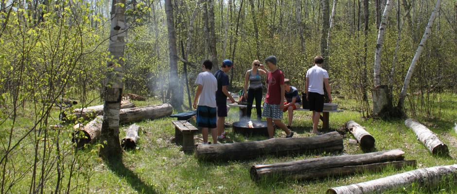 Gr. 9 Retreat - Campfire