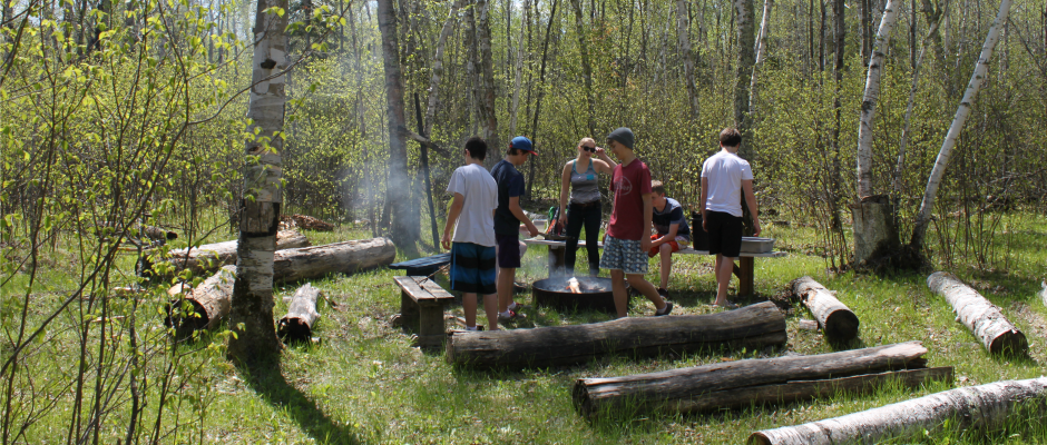Gr. 9 Retreat - Campfire